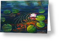 Pond Jewels Greeting Card by Pat Burns