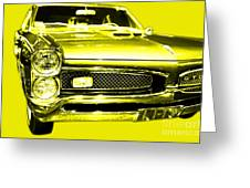 Pontiac Gto Yellow Greeting Card by Wingsdomain Art and Photography