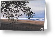 Pools Beach Greeting Card by Sarah Lynch