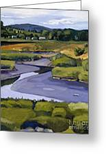 Pope John II Park On Neponset River Greeting Card by Deb Putnam