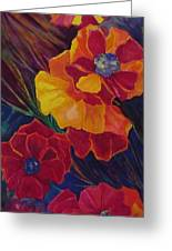 Poppies Greeting Card by Carolyn LeGrand