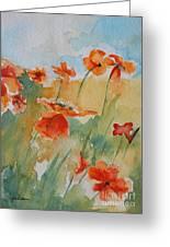 Poppies Greeting Card by Gretchen Bjornson