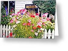 Poppies On Niagara Street Greeting Card by David Lloyd Glover