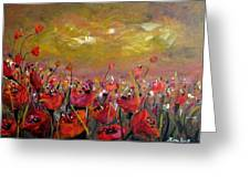 Poppy Field Greeting Card by Alina Vidulescu