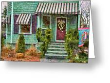 Porch - Westfield Nj - Welcome Friends Greeting Card by Mike Savad