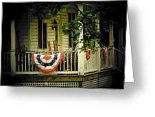 Porch Flag Greeting Card by Michael L Kimble