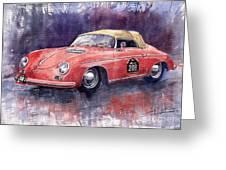 Porsche 356 Speedster Mille Miglia Greeting Card by Yuriy  Shevchuk