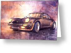 Porsche 911 Turbo 1979 Greeting Card by Yuriy  Shevchuk