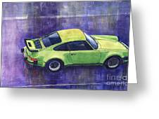 Porsche 911 Turbo Greeting Card by Yuriy  Shevchuk