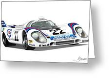 Porsche 917 Greeting Card by Alain Jamar