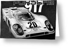 Porsche 917 Greeting Card by Lyle Brown