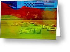 Porsche 917 Racing Greeting Card by Naxart Studio