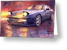 Porsche 944 Turbo Greeting Card by Yuriy  Shevchuk