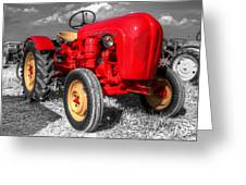 Porsche Tractor Greeting Card by Rob Hawkins