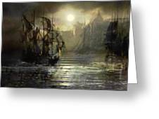 Port Tortuga Greeting Card by Stefano Popovski