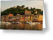 Portofino Bay Greeting Card by Neil Buchan-Grant