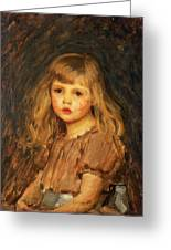 Portrait Of A Girl Greeting Card by John William Waterhouse