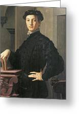 Portrait Of A Young Man Greeting Card by Agnolo Bronzino