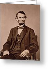 Portrait Of Abraham Lincoln Greeting Card by Mathew Brady