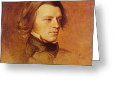 Portrait Of Alfred Lord Tennyson Greeting Card by Samuel Laurence