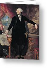 Portrait Of George Washington Greeting Card by Joes Perovani