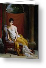 Portrait Of Madame Recamier Greeting Card by Francois Pascal Simon Gerard