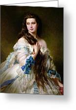 Portrait Of Madame Rimsky Korsakov Greeting Card by Franz Xaver Winterhalter