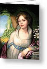 Portrait Of Maria Lopukhina Greeting Card by Stoyanka Ivanova