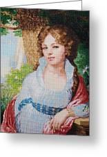 Portrait Of M.i. Lopukhina Greeting Card by Elena Soldatkina