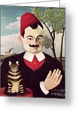 Portrait Of Pierre Loti Greeting Card by Henri Rousseau
