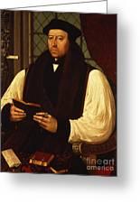 Portrait Of Thomas Cranmer Greeting Card by Gerlach Flicke