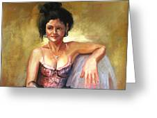 PORTRAIT SAMPLE Greeting Card by Podi Lawrence