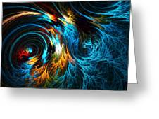 Poseidon's Wrath Greeting Card by Lourry Legarde