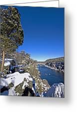 Potomac River At Great Falls National Park During Winter Greeting Card by Brendan Reals