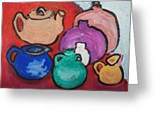 Pots Greeting Card by Jay Manne-Crusoe