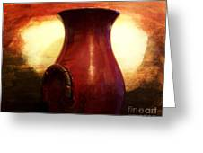 Pottery From Italy Greeting Card by Marsha Heiken