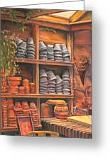 Potting Shed Greeting Card by Sam Pearson