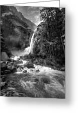 Power Of Water Greeting Card by Edward Kreis