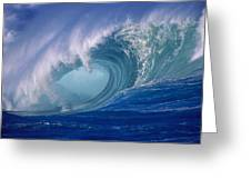 Powerful Surf Greeting Card by Ron Dahlquist - Printscapes