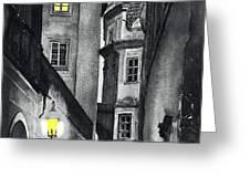Prague Love Story Greeting Card by Yuriy  Shevchuk