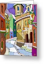 Prague Old Street Karlova Winter Greeting Card by Yuriy  Shevchuk