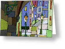 Prague Old Street Mostecka Greeting Card by Yuriy  Shevchuk