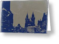 Prague Old Town Square Greeting Card by Naxart Studio