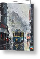 Prague Old Tram 04 Greeting Card by Yuriy  Shevchuk