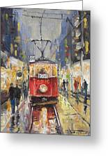 Prague Old Tram 08 Greeting Card by Yuriy  Shevchuk