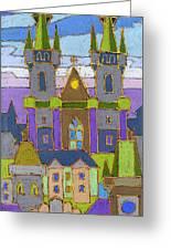 Prague Panorama Greeting Card by Yuriy  Shevchuk