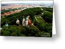 Prague Greeting Card by Randy Matthews