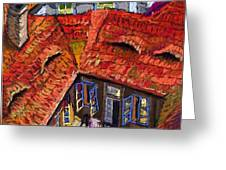 Prague roofs 01 Greeting Card by Yuriy  Shevchuk