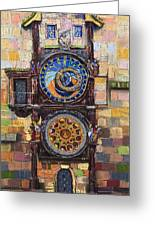Prague The Horologue At Oldtownhall Greeting Card by Yuriy  Shevchuk