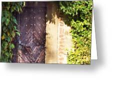 Praha Garden Door Greeting Card by Shawn Wallwork